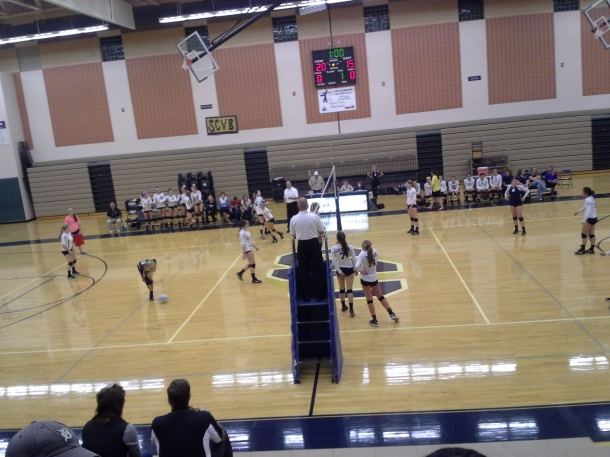 The lady Cougars score to put them up 20-15. Photo by Ryan Sennett.