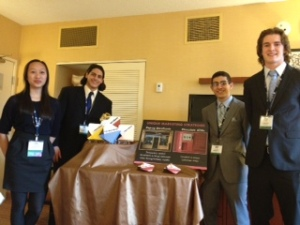 Small Business Management Team, Kim Yang, AJ Yasso, Justin Asmer, and Andrew Shea, are headed to Nationals.