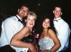 "Teacher: Mrs. Millard Year of Prom: 1991 "" I had a sequin mermaid-style dress. Those dresses were the style. I had a teal and hot pink one with  lame (it's a type of material) ruffles along the bottom and over one shoulder. It is horrible to look at now, but back then, it was IN,"" English teacher Sarah Millard said."